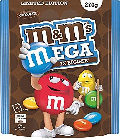 Amazon Blitzangebot M&Ms Mega 5x270g für 10,99€ (Limited Edition)