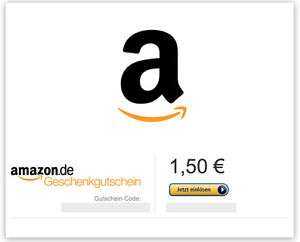 Amazon Gutschein im Wert von 1,50€
