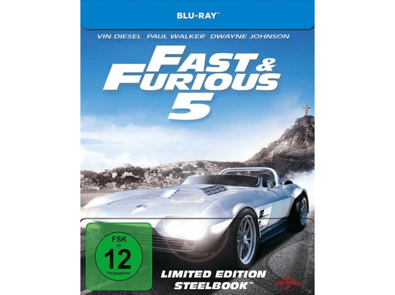 The Fast and the Furious 1,2,3,4 und 5 Bluray Steelbook je 5 € bei Mediamarkt