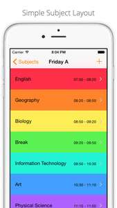 Stundenplan App [iOS + Apple Watch] - Subjects School Timetable