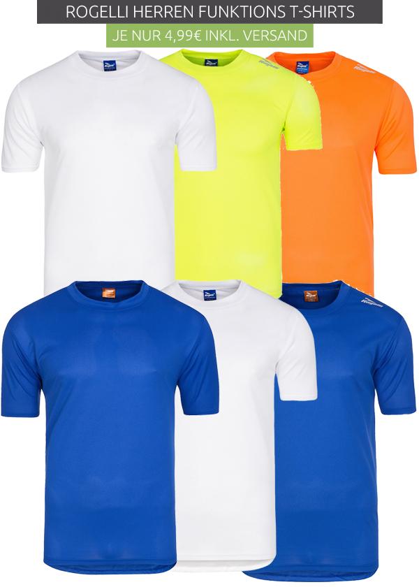 Rogelli Herren Funktions-Shirts in verschiedenen Farben @outlet46