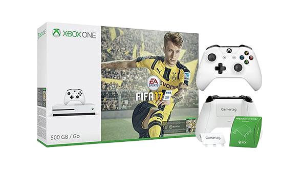 Xbox One S + 2. Wireless Controller + Fifa 17 für 254€ (Microsoft UK)