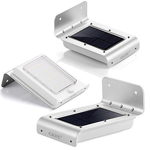 [AMAZON] 3x GRDE® 16 LED Solar Wand Lampen Mit Bewegungsmelder Sensor Kabellos Wasserdicht - mit Code 20,99