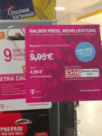T-mobile Xtra Karten mit 10€ Guthaben zb. für PSN