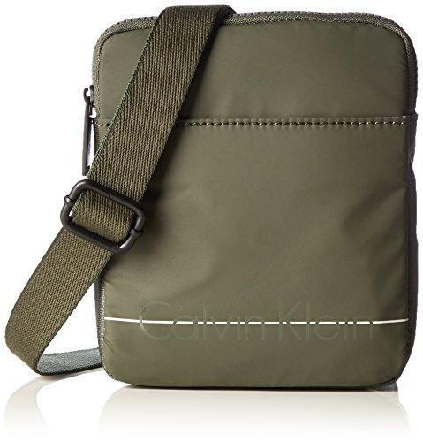 [Amazon Prime] Calvin Klein Jeans Herren Logan 2.0 Mini Flat Umhängetaschen, 20x16x3 cm in Grün oder Grau