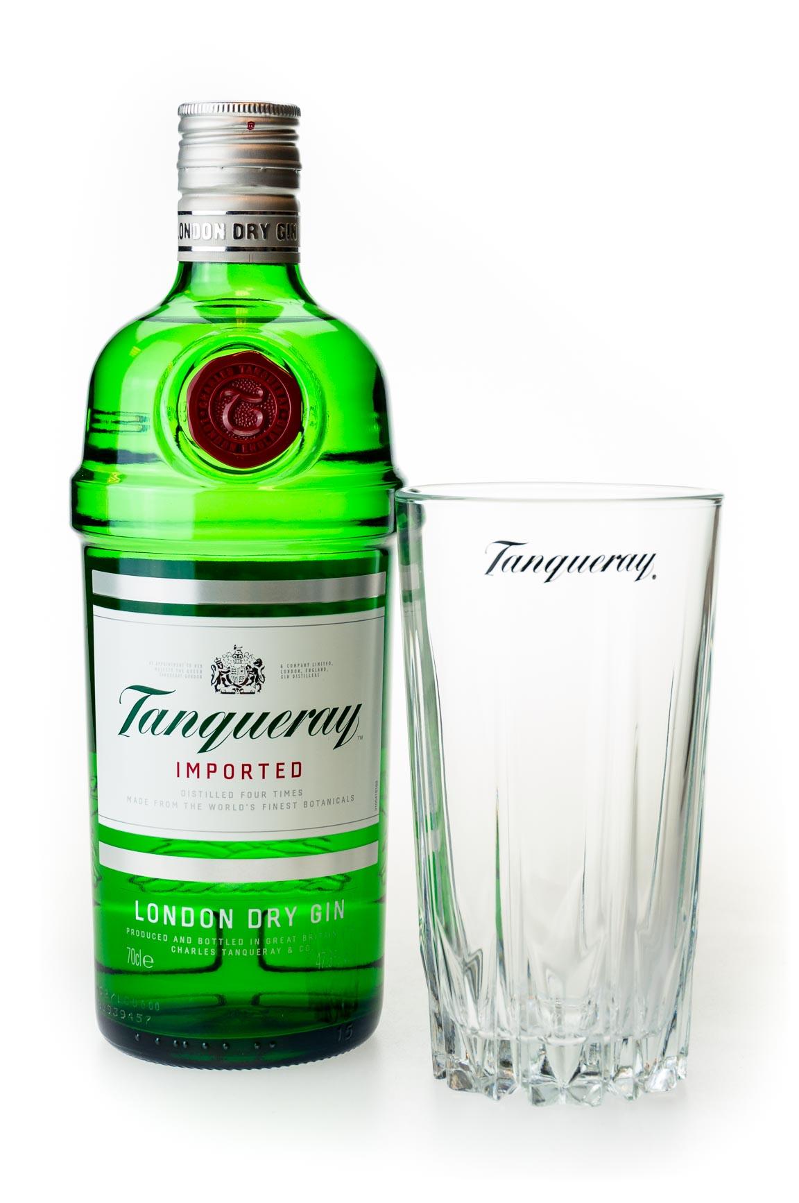Tanqueray Dry Gin in Geschenkverpackung mit Longdrink-Glas und gratis Versand für 17,55€ (Conalco)