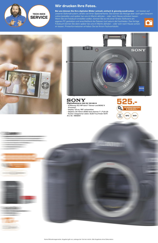 [LOKAL SATURN Stuttgart] Sony Cyber-Shot DSC-RX100 III für 525€  (RX 100 Mark 3 M3 MK III)