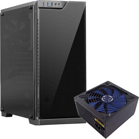 """Cooltek Bundle Miditower """"TG-01 Basic"""" + """"CVSE 450W"""" Netzteil"""