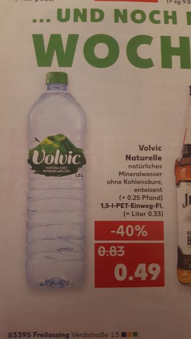 Volvic Naturelle 1,5L für sehr gute 0,49€ (+0,25€ Pfand) @Kaufland
