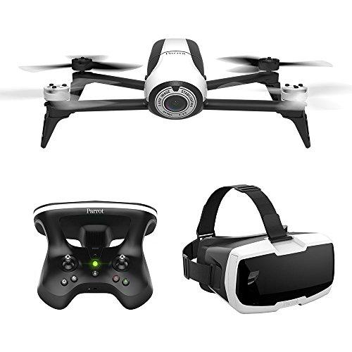 Amazon Tagesangebot Parrot Bebop 2 FPV Drohne im Set mit Skycontroller und FPV-Brille weiß