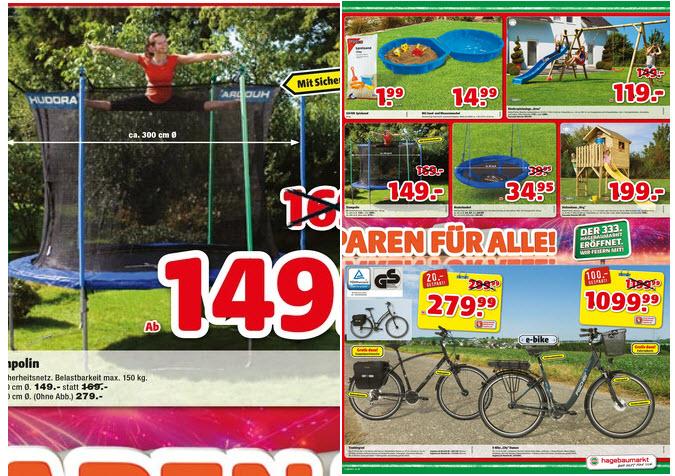 """Hagebaumarkt """"Gartentrampolin von HUDORA"""" für 149 €"""