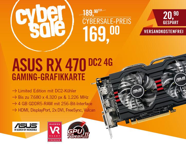 """ASUS RX470-DC2-4G """"Limited Edition"""" 4GB für 169€ bei Cyberport und Computeruniverse"""