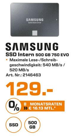 [lokal] Saturn Hamburg/Norderstedt: Samsung 750 EVO 500GB SSD