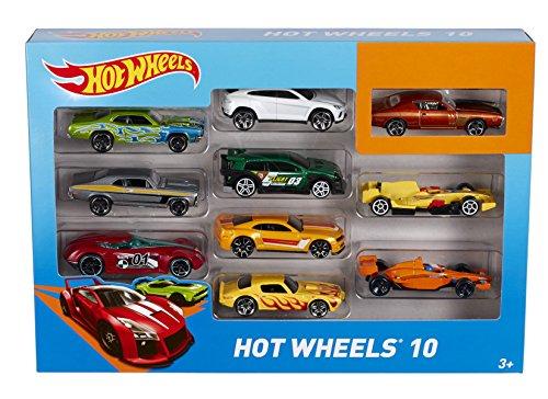 [Amazon Prime] Mattel 54886 Hot Wheels Fahrzeuge 10er Geschenkset, 38 x 28 x 21 cm, farblich sortiert