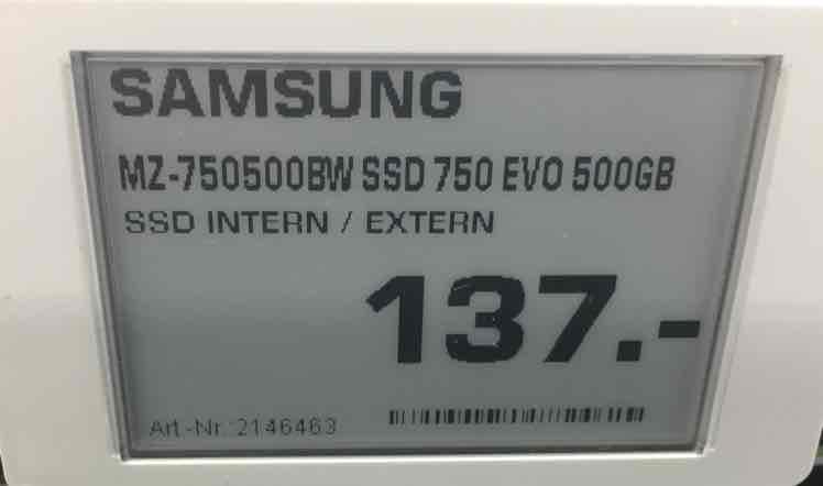Samsung SSD 750 Evo 750 500 GB @ Saturn Siegen