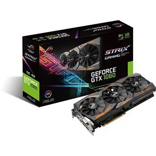 6GB Asus GeForce GTX 1060 Strix OC Aktiv PCIe 3.0 x16 (Retail)