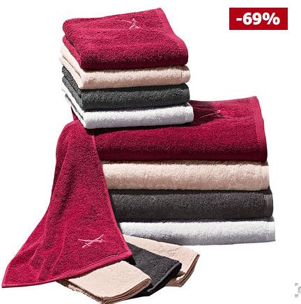 Nur heute 20% Rabatt auf Bademäntel und Handtücher bei Karstadt (auch Sale), z.B. Sansibar Duschtuch mit Stickerei (70x140 cm) für 7,19€ mit Filialversand statt 11,95€