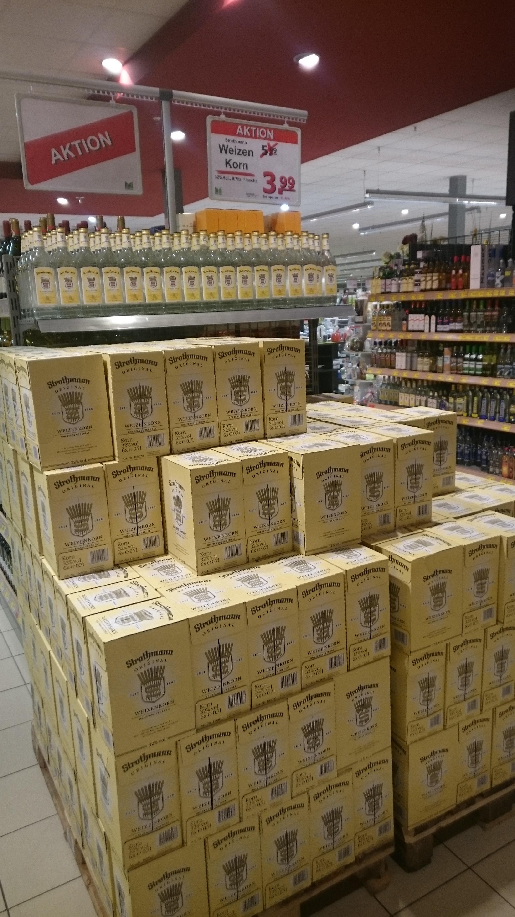 Strothmann Korn 0,7 Liter - 3,99€! Lokal?! Cuxhaven