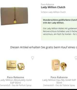 Lady Million Eau My Gold! EdT 50ml + Lady Million Clutch