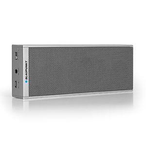 [ebay] Blaupunkt BT 20 Bluetooth Lautsprecher mit Mikrofon für Freisprecheinrichtung, eingebauter Akku, MP3 Link, silber