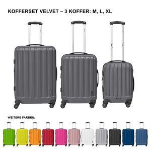 Packenger Premium Koffer 3er-Set Velvet M, L+XL in verschiedenen Farben  @ ebay WoW