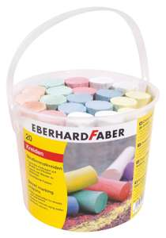 Amazon Plus Produkt: Eberhard Faber 526512 - Straßenmalkreide 20er Eimer