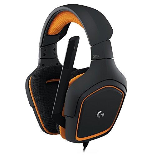 Logitech G231 Prodigy-Gaming Stereo Kopfhörer mit Mikrofon (für PC, Xbox und PS4) schwarz/orange für 37,49€ @ Amazon Prime
