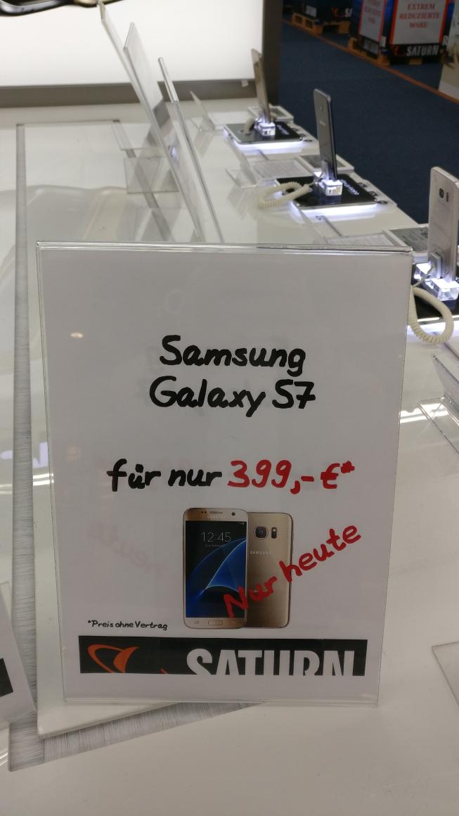 (Lokal Saturn Siegen) Samsung S7 für 399 €