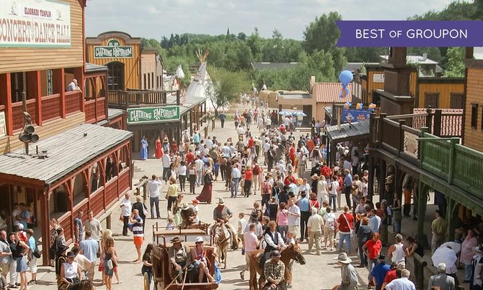 Westernstadt El Dorado in Templin: Familienticket (2 Erwachsene und bis zu 3 Kinder) für 15,20€ bei [Groupon]