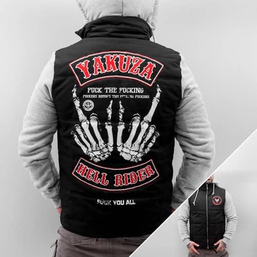DEFSHOP Winterjacke Hell Rider in schwarz von Yakuza 50% reduziert