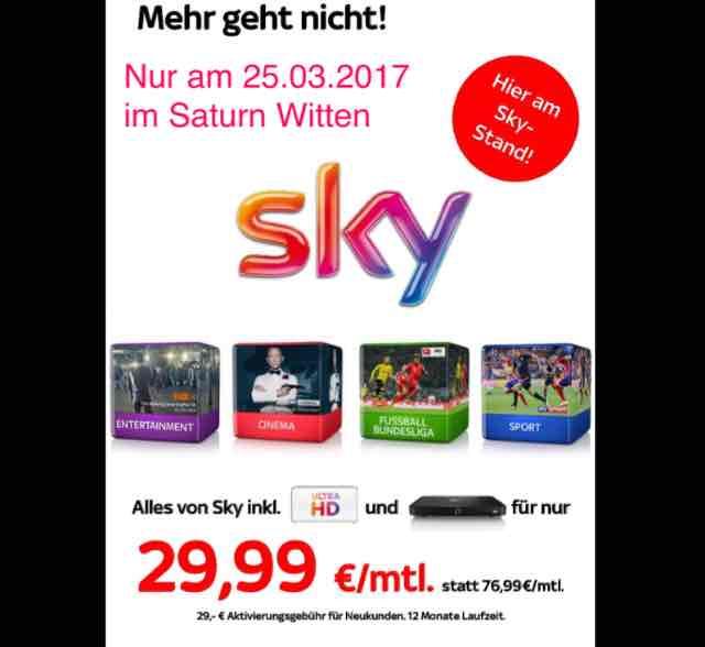 Saturn Witten Sky Komplett 29,99€ Tagesangebot