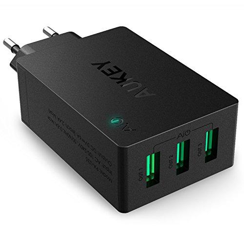 [Amazon Blitzangebot] AUKEY USB Ladegerät 3 Ports 30W für 11,89€