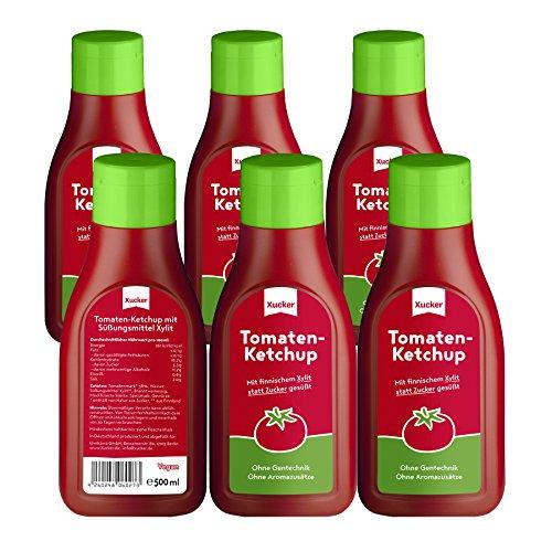 Xucker Tomatenketchup ohne Zuckerzusatz mit Xylit, 6er Pack (6 x 500 g) bei Amazon für 8,56€ statt 22€