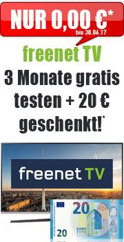 Freenet Tv 3 Monate gratis und 20€ Cashback dafür von handybude