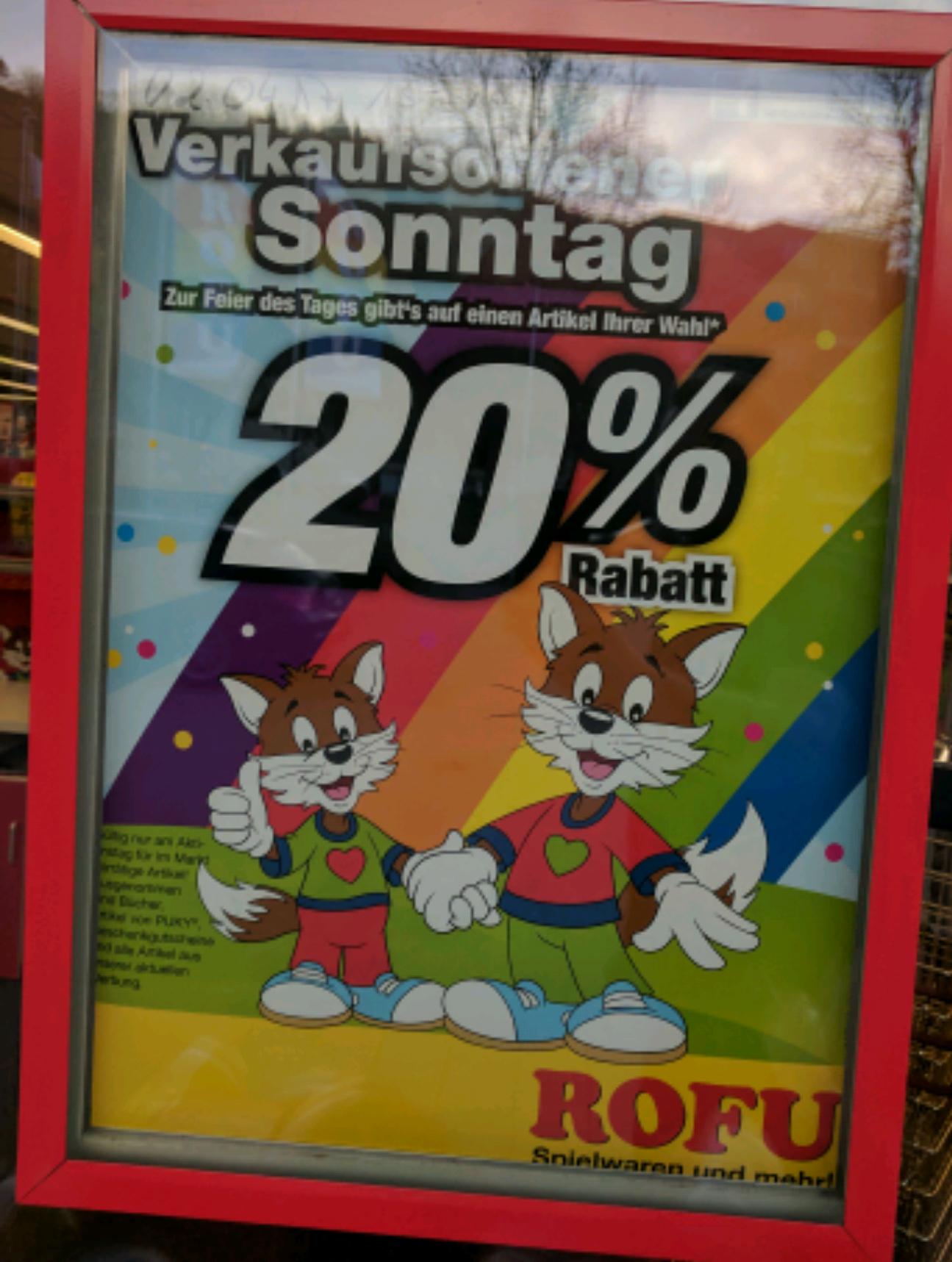 [Lokal Trier] Rofu 20% Rabatt auf 1 Artikel (02.04.)