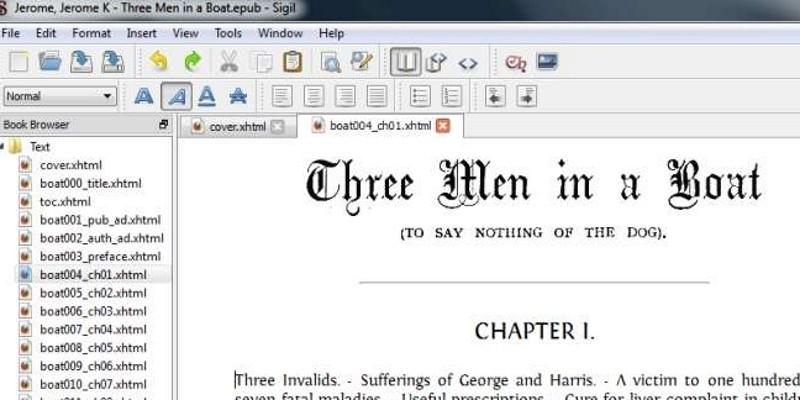"""E-Book-Editor-Sigil Kostenlos bietet """"WYSIWYG"""" - Editing"""