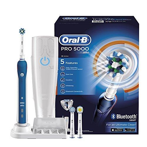 Braun Oral-B PRO 5000 CrossAction Elektrische Zahnbürste mit Reiseetui & Bluetooth für 58,29€ [Amazon.co.uk]