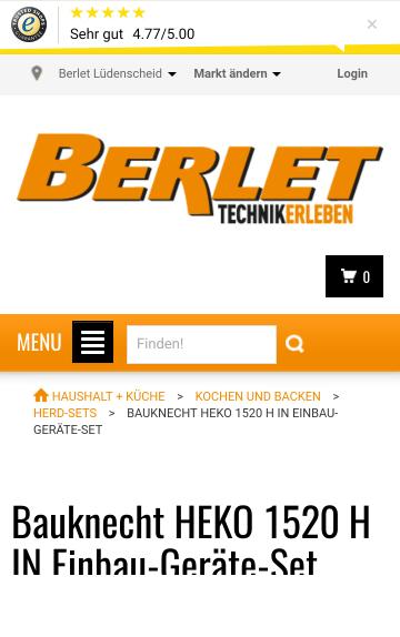 Bauknecht HEKO 1520 H IN Einbau-Geräte-Set
