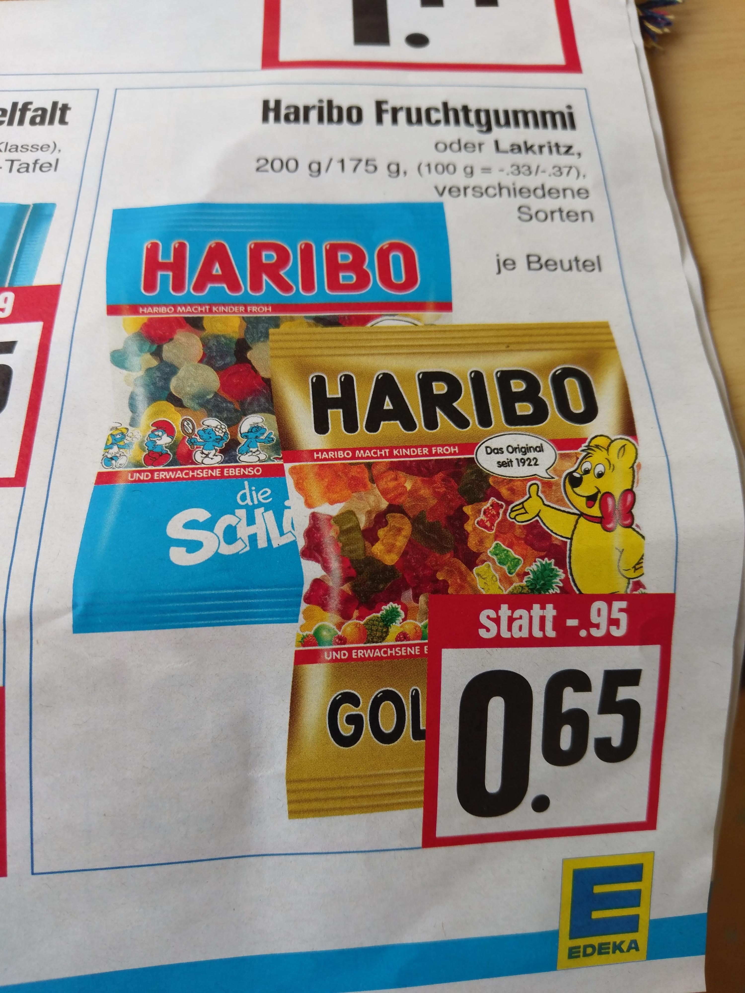 Haribo Fruchtgummi (diverse Sorten) für je 0,65 Euro @ Edeka Hessenring (27.03.2017-01.04.2017)