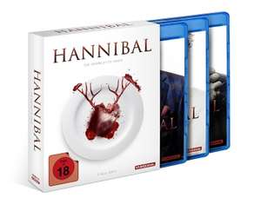 Hannibal Staffel 1-3 Gesamtedition (Blu ray) für 25,94€ (Alphamovies)