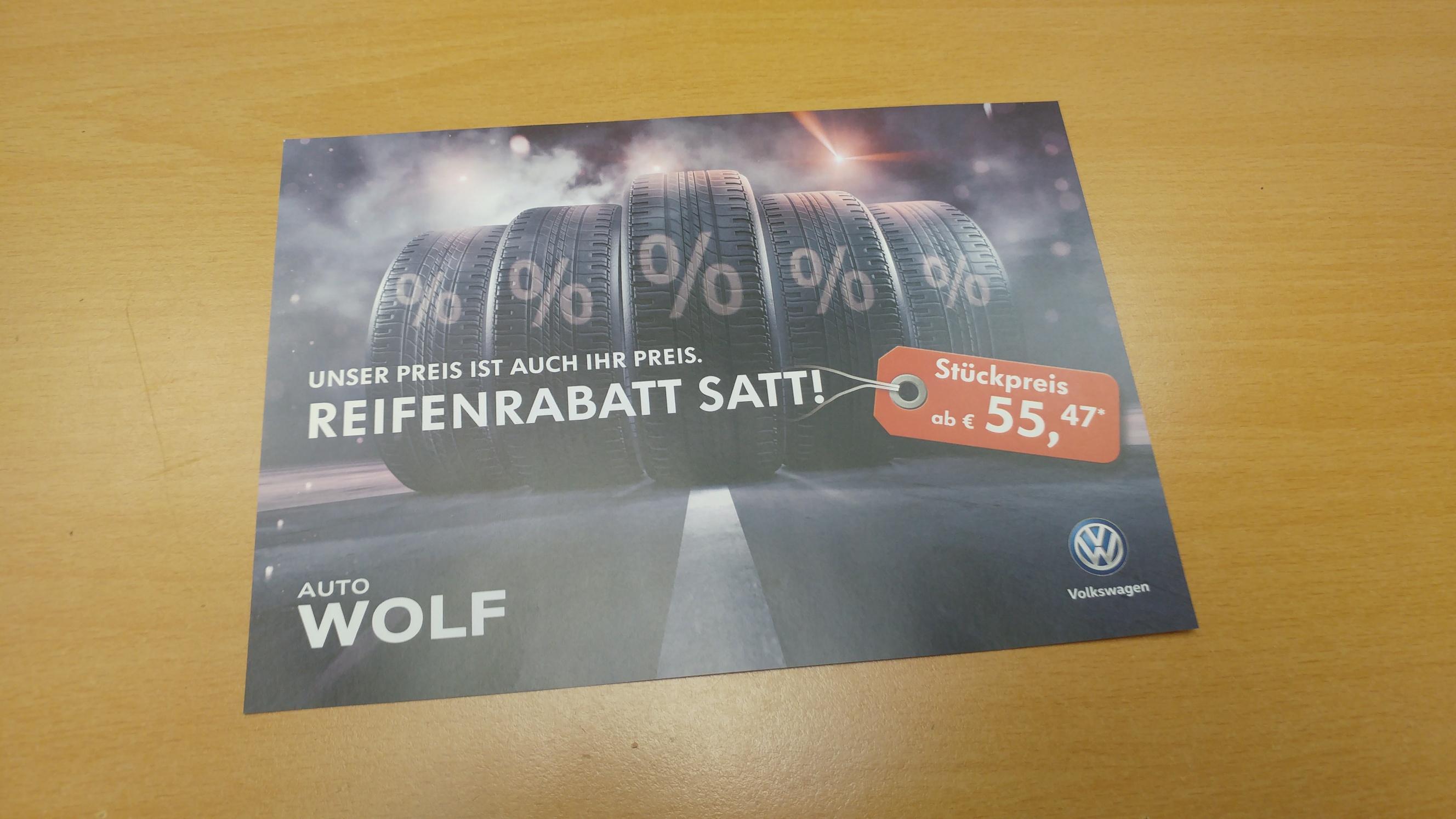 Reifen Aktion bei Volkswagen Auto Wolf in Mülheim an der Ruhr