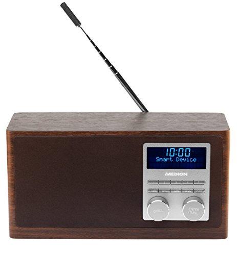 MEDION LIFE MD 80025 Digital Radio mit Bluetooth-Funktion und DAB+ (UKW, AUX Eingang, USB), braun für 59,99€ [Amazon]