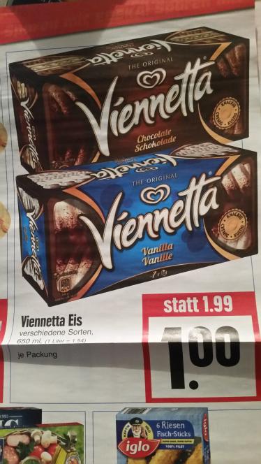 (Edeka Hessenring) Viennetta Eis verschiedene Sorten nur 1€