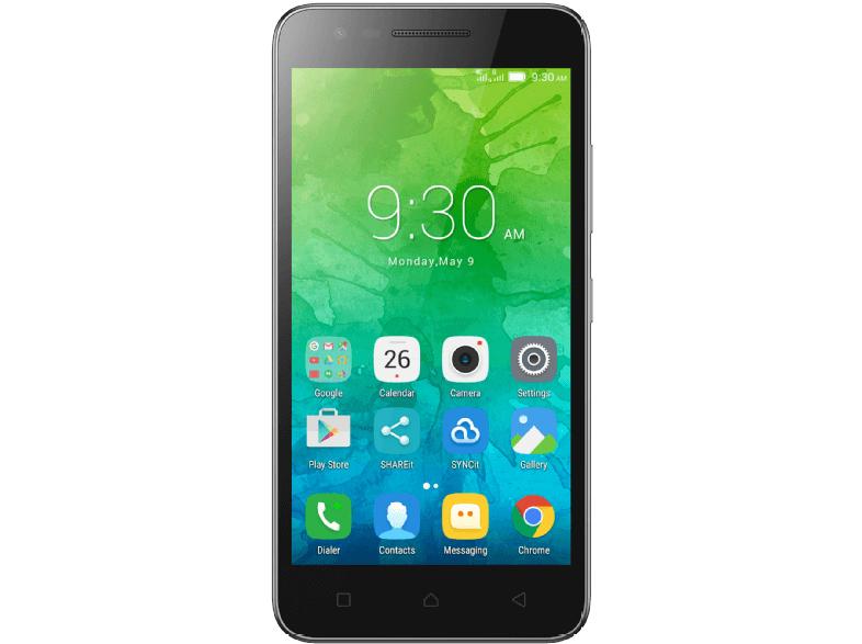 LENOVO C2, Smartphone, 8 GB, 5.0 Zoll, Dual Sim, LTE, Android 6, schwarz oder weiss für 79 € bei Saturn und Amazon