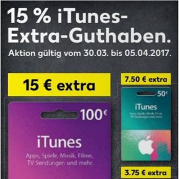 [Kaufland ab 30.03.] 15% iTunes Bonus Guthaben