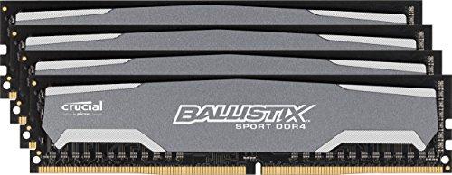 [Amazon.es] Crucial Ballistix Sport Arbeitsspeicher 16GB Kit (4x4GB) DDR4 2400 MT/s für ~92€
