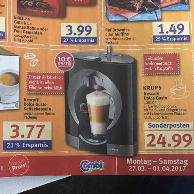[Combi] Krups Nescafé  Dolce Gusto OBLO