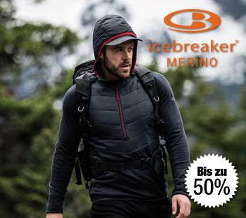 Bis zu 50% zum UVP auf Icebreaker Merino Kleidung