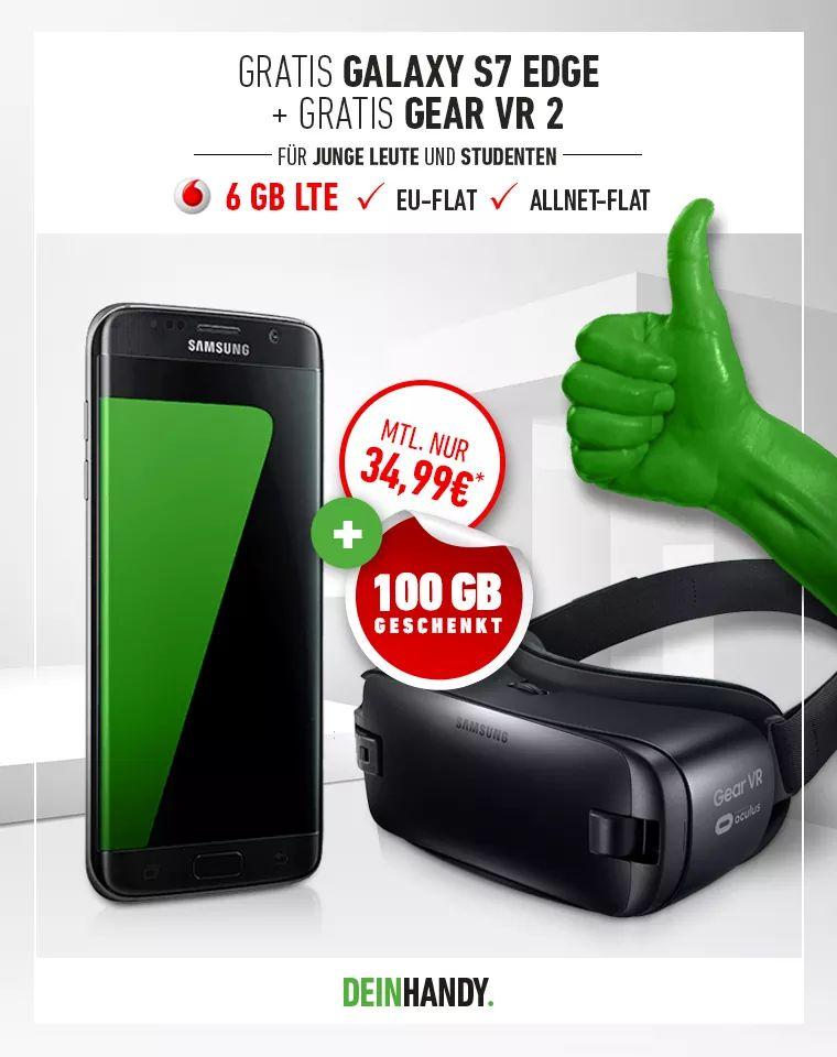 Vodafone Young L + S7 Edge + Gear VR2 für eff.15,24€