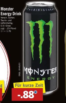 [Lidl] Monster Energy für 0,88€ nur am 01.04.17